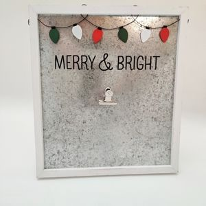 Home Decor Holiday Merry and Bright Sign